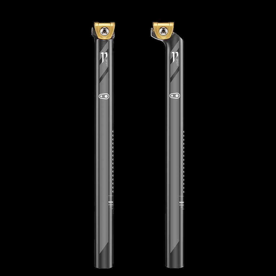 Crank Brothers Cobalt 11 Hi Mod Carbon Setback Seatpost Black//Gold 30.9 x 400mm
