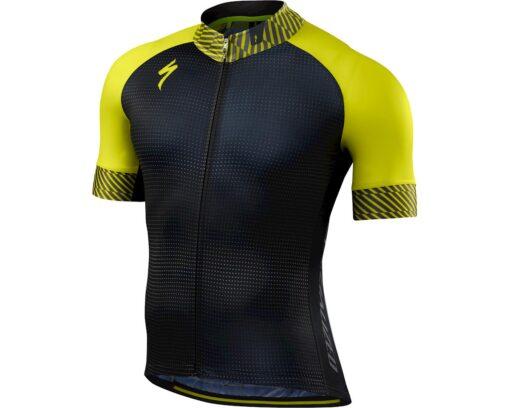 Specialized Men's SL Expert Short Sleeve Cyclin Jersey Dot Fade / Limon - Medium