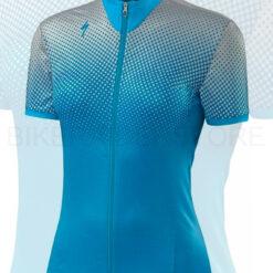 Specialized Women's RBX Comp Short Sleeve Jersey Geo Crest/Neon Blue - Medium