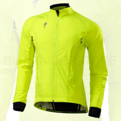 Specialized Men's Deflect H2O Road Cycling Jacket Neon Yellow - Medium