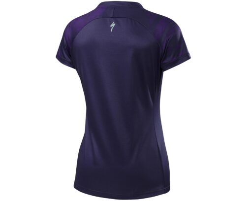 Specialized Women's Andorra Short Sleeve Jersey Deep Indigo / Primal Geo - M