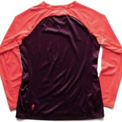 Specialized Women's Andorra Long Sleeve Jersey Cast Berry / Acid Lava Mirror - M