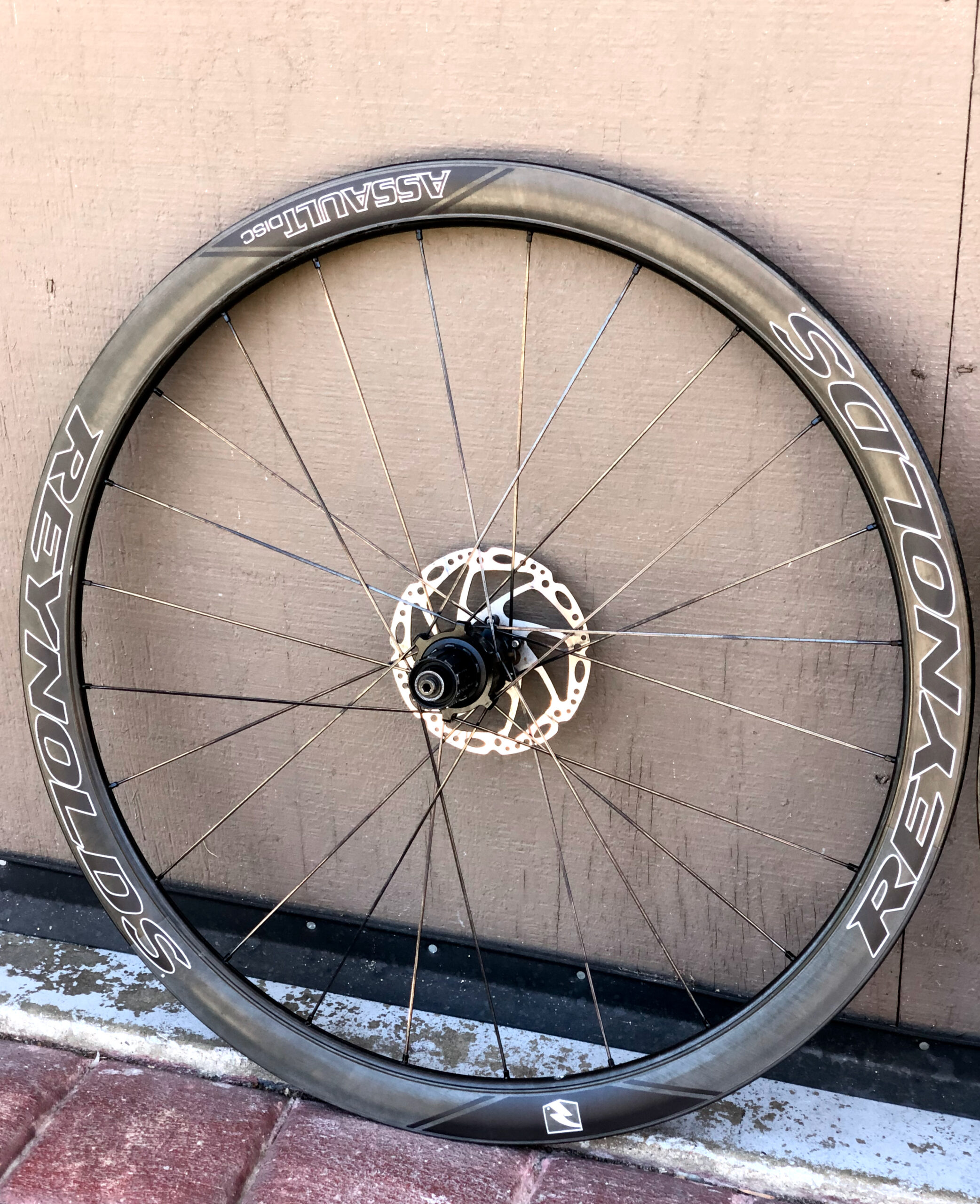 Reynolds Assault SLG Carbon Disc Tubular Aero Road Bike Wheelset 11 sp w/ Rotors