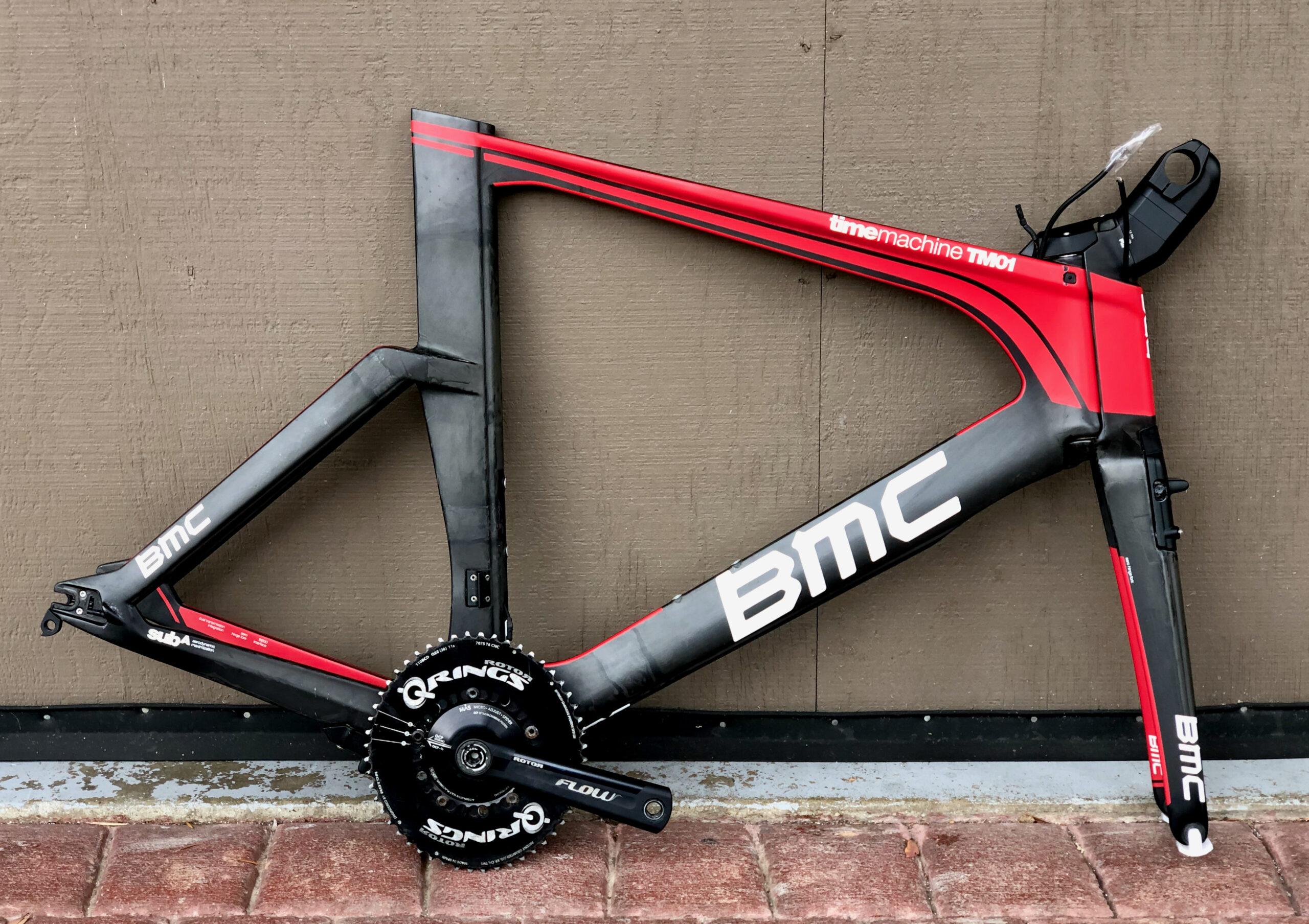 BMC Time Machine TM01 Carbon Triathlon Time Trial Bike Frameset w Powermeter Di2