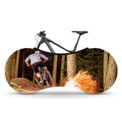 Indoor Bike Water Resistant Anti Dust Wheels Cover for Storage and Transportation - Mountain Trail