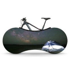 Indoor Bike Water Resistant Anti Dust Wheels Cover for Storage and Transportation - Starry Night