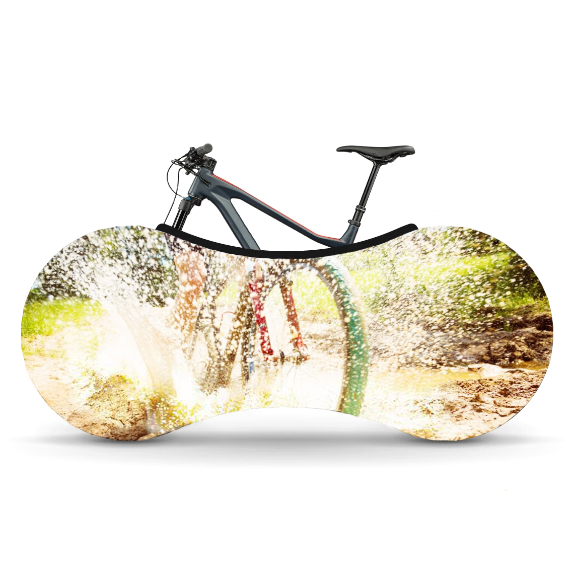 Indoor Bike Water Resistant Anti Dust Wheels Cover for Storage and Transportation - Off-Road Fun