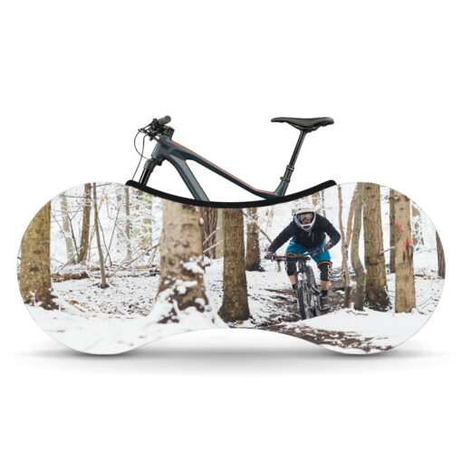 Indoor Bike Water Resistant Anti Dust Wheels Cover for Storage and Transportation - First Snow